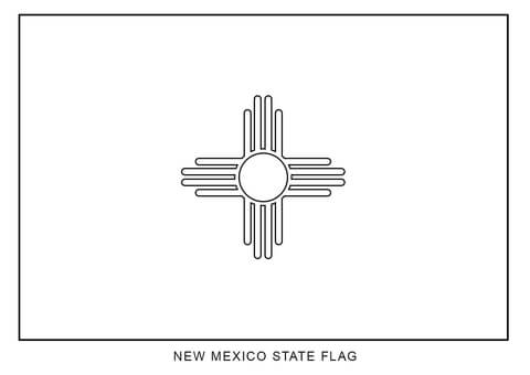 Flag Of New Mexico Coloring Page Free Printable Coloring Pages