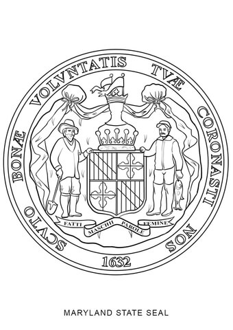 Seal Of Maryland Coloring Page Free Printable Coloring Pages