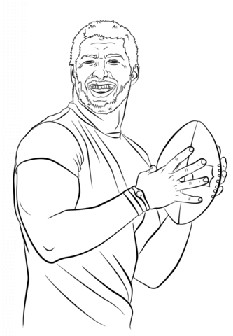 Tim Tebow Coloring Page Free Printable Coloring Pages