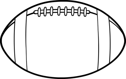 American Football Ball Coloring Page Free Printable Coloring Pages