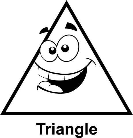 triangle coloring page # 6