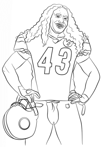 Troy Polamalu Coloring Page Free Printable Coloring Pages