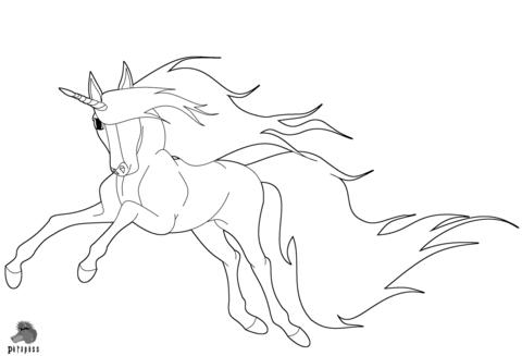 Disegno Di Unicorno Che Corre Da Colorare Disegni Da