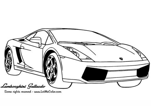 Coloriage Lamborghini Gallardo Coloriages Imprimer