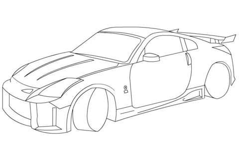 Nissan Gt R Tanner Fox Drawing