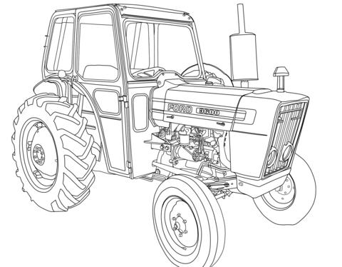 Trekker Ford 3600 Kleurplaat Gratis Kleurplaten Printen