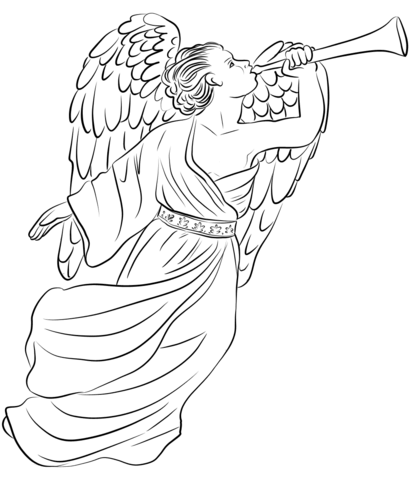 angel gabriel coloring page coloring book printable
