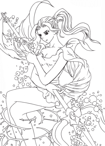 Forneus The Devil Of Water From Romancing Saga 3 Coloring