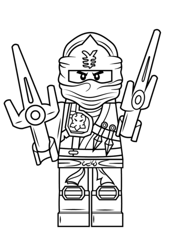 Click to see printable version of Lego Ninjago Jay ZX Coloring page