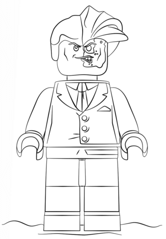 Lego Two Face Coloring Page Free Printable Coloring Pages