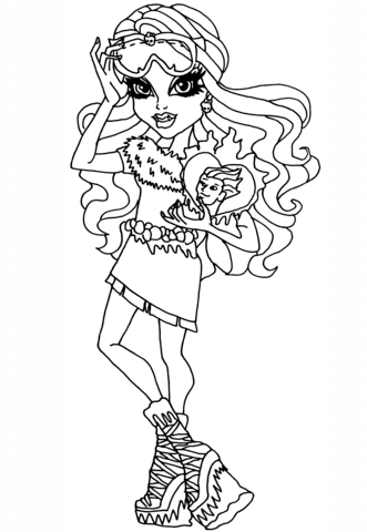 Monster High Abbey Coloring Page Free Printable Coloring