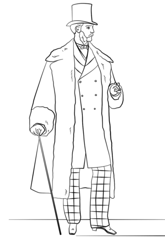Victorian Mens Fashion Coloring Page Free Printable