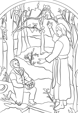 Angel Moroni Visits Joseph Smith Coloring Page Free Printable Coloring Pages