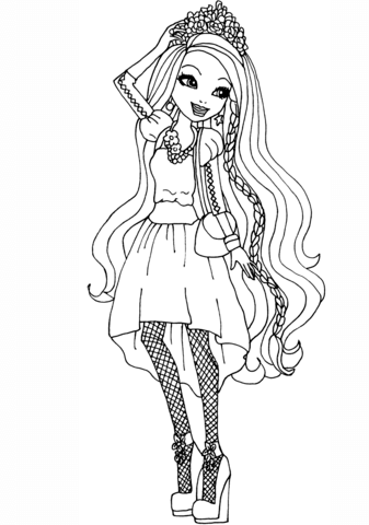 Ever After High Holly O Hair Coloring Page Free Printable