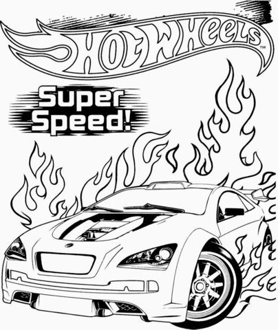Ausmalbild Hot Wheels Super Speed Ausmalbilder