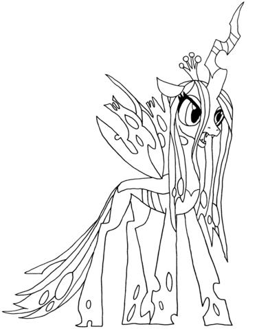 My Little Pony Queen Chrysalis Coloring Page Free