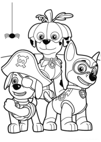 halloween puppies coloring pages