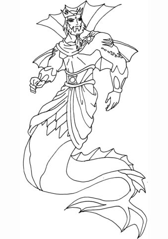 Winx Club King Neptune Coloring Page Free Printable