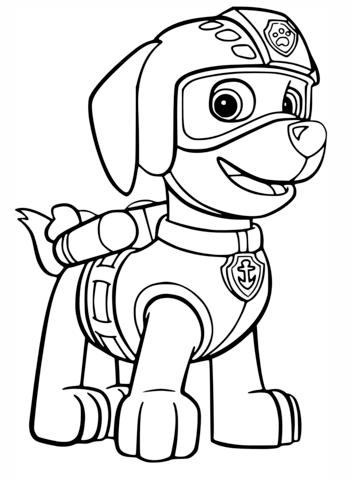 Zumas Air Rescue Uniform Coloring Page Free Printable