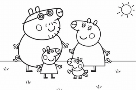 painting peppa pig paintings easy painting electronic wallpaper