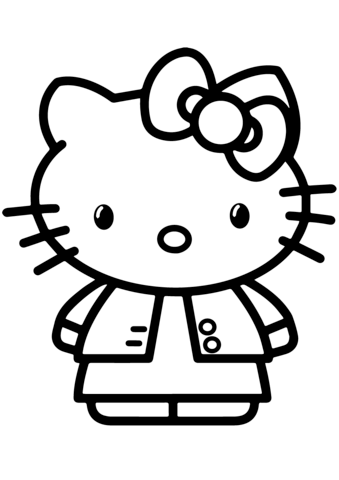 Gambar Hello Kitty Coloring Page Free Printable Coloring