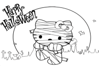 free halloween mummy coloring pages