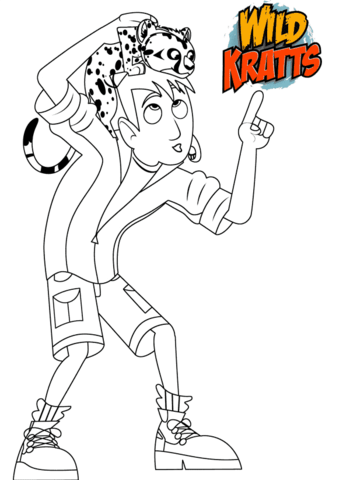 Martin Kratt With Spot Swat Cheetah Cub Coloring Page Free Printable Coloring Pages