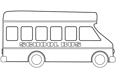 School Bus Coloring Page Free Printable Coloring Pages