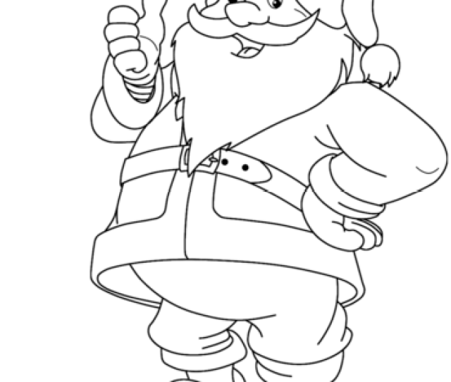 Funny Santa Claus Coloring Page Free Printable Coloring Pages