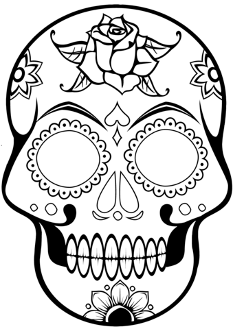 Sugar Skull Coloring Page Free Printable Coloring Pages
