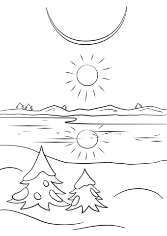 Winter Solstice Coloring Page Free Printable Coloring Pages