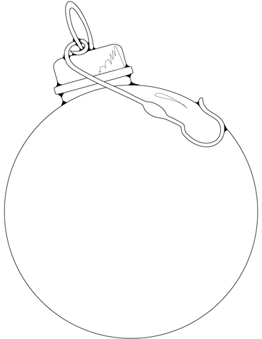 Blank Christmas Ornament Coloring Page Free Printable Coloring Pages