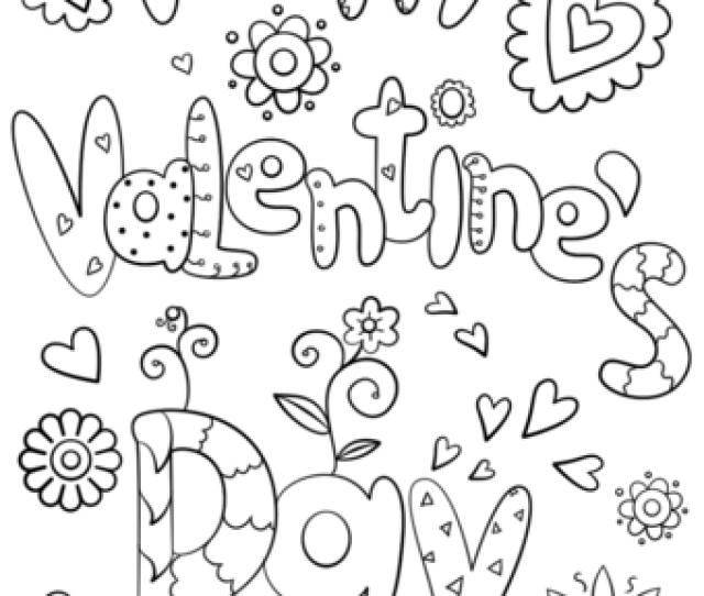 Happy Valentines Day Coloring Page Free Printable Coloring Pages