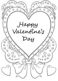 Happy Valentines Day Coloring Pages Printable – Valentine\'s Day Info
