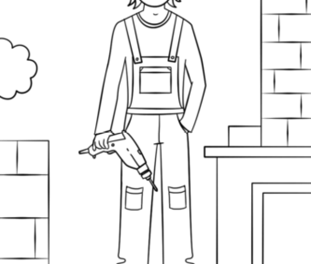 Girl Construction Worker Coloring Page Free Printable Coloring Pages