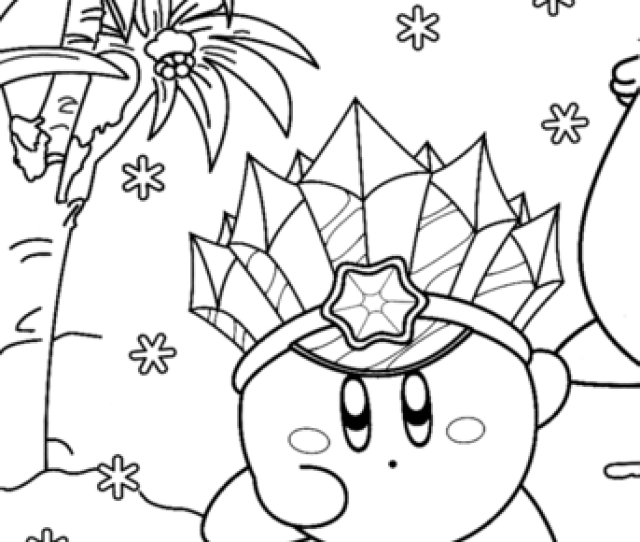 Ice Kirby Coloring Page Free Printable Coloring Pages