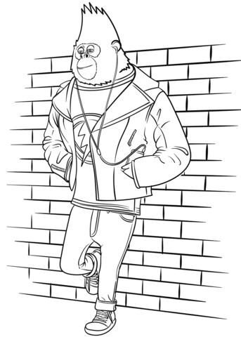 Johnny From Sing Movie Coloring Page Free Printable Coloring Pages