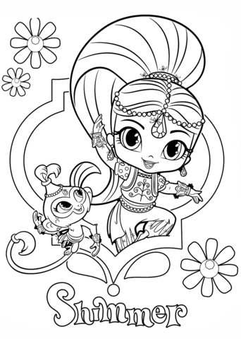 Shimmer And Tala Coloring Page Free Printable Coloring Pages