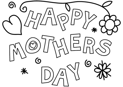 Happy Mother S Day Coloring Page Free Printable Coloring Pages
