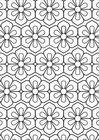 Flower Pattern Coloring Page Free Printable Coloring Pages