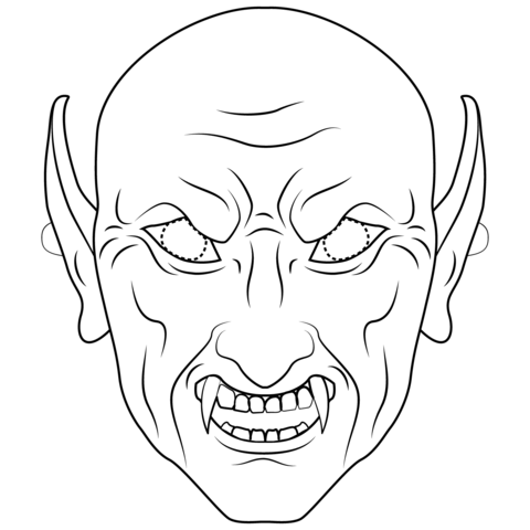 Vampire Mask Coloring Page Free Printable Coloring Pages