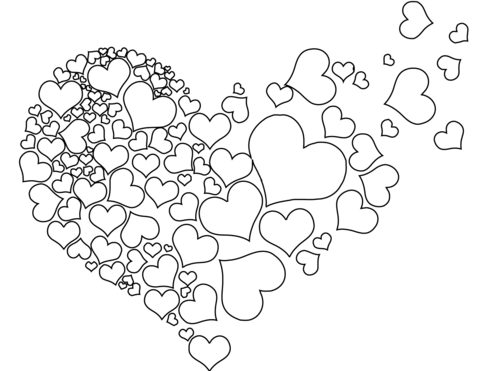 Torn Heart Coloring Page Free Printable Coloring Pages