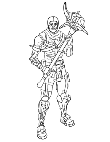 Fortnite Skull Trooper Coloring Page Free Printable Coloring Pages