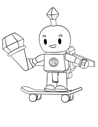 Roblox Robot Coloring Page Free Printable Coloring Pages