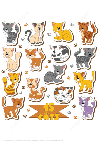 Printable Cats Stickers Free Printable Papercraft Templates