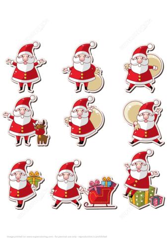 Printable Santa Claus Stickers Free Printable Papercraft