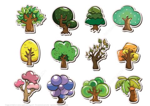 Printable Tree Stickers Free Printable Papercraft Templates