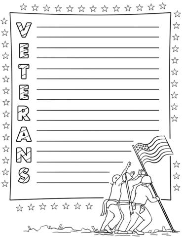 Veterans Acrostic Poem Template Free Printable