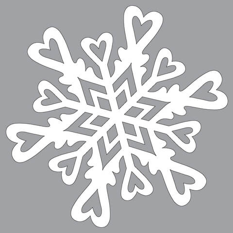 Paper Snowflake Pattern With Hearts To Cut Out Free