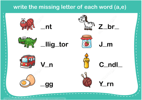 Write The Missing Letter Word Puzzle Copy Free Printable